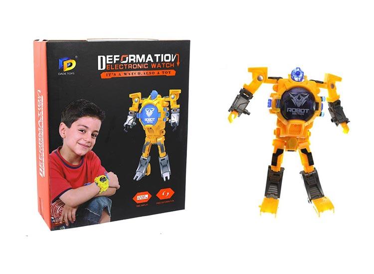 خرید ساعت مچی بچه گانه مدل ربات تغییر شکل دهنده